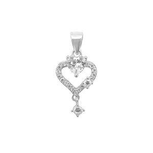 Saida Open Heart Earrings and Pendant Set