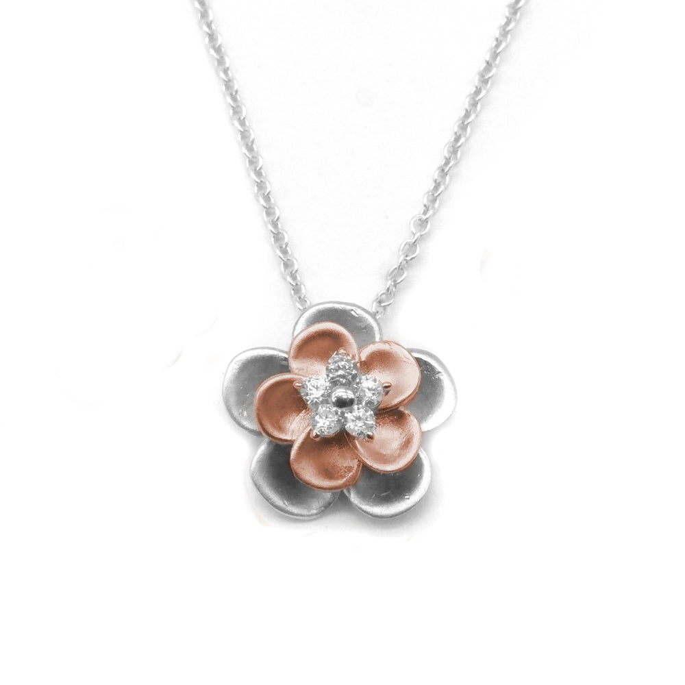 Disney® Mulan Rosegold Flower Jewellery Set