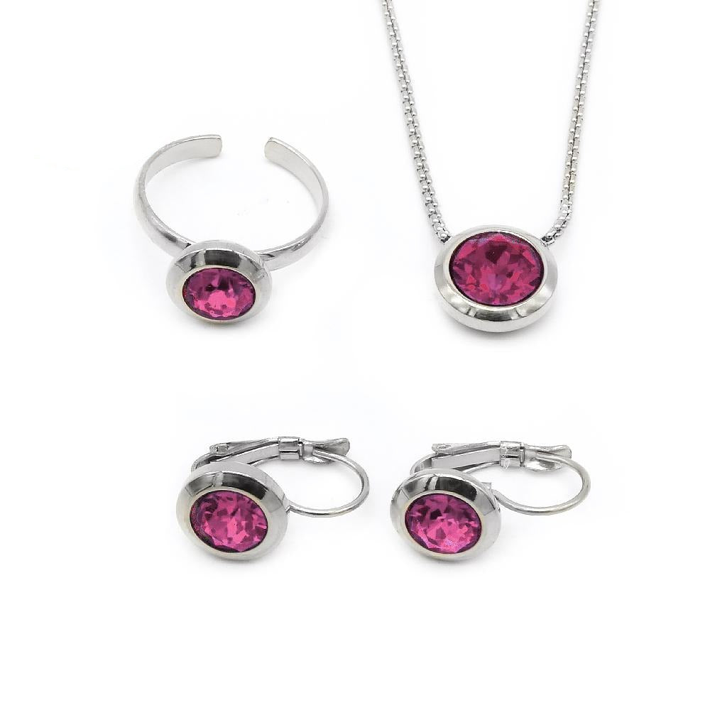 February Swarovski Birthstone Set