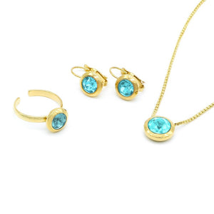 March Swarovski Birthstone Set