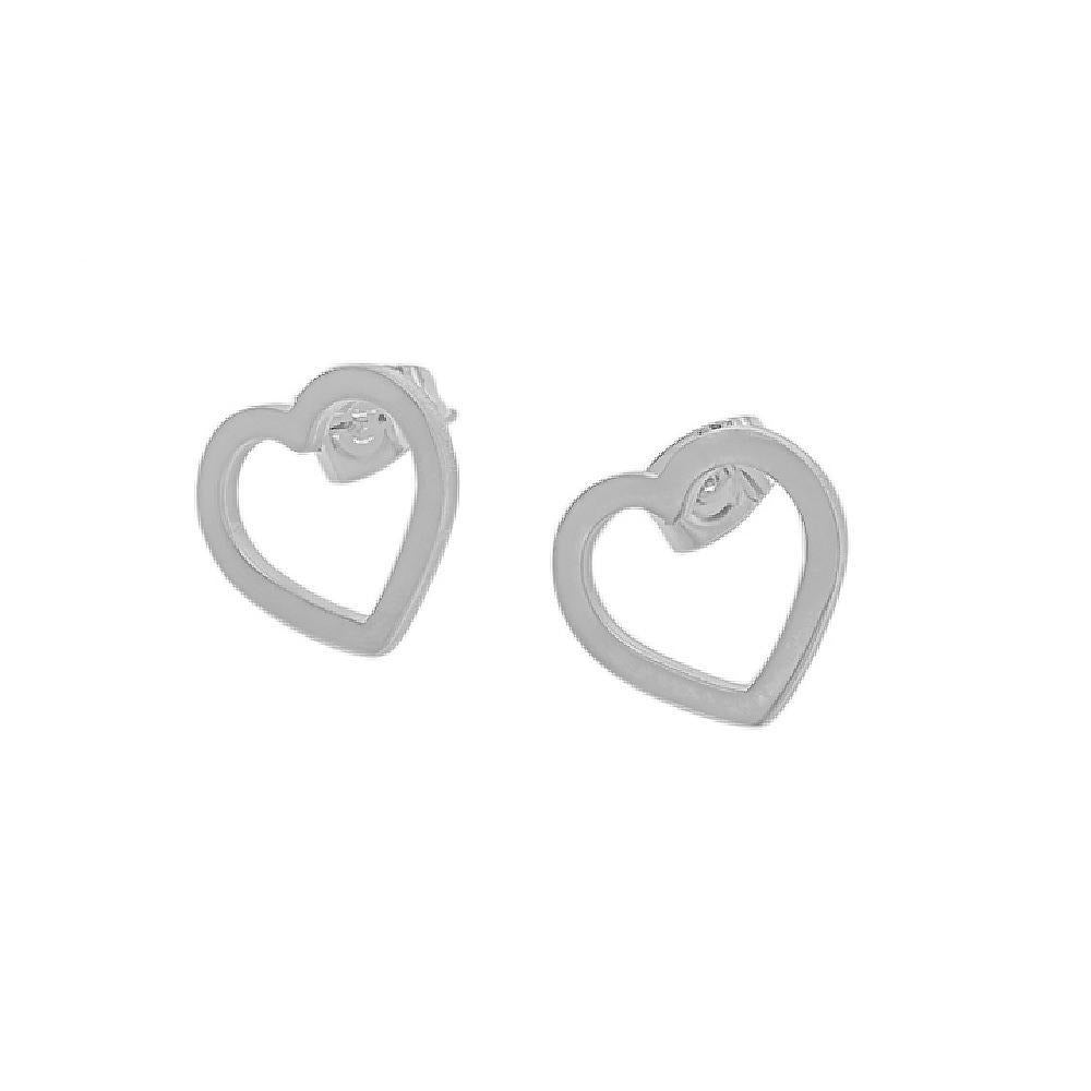 Sab Thin Open Heart Earrings