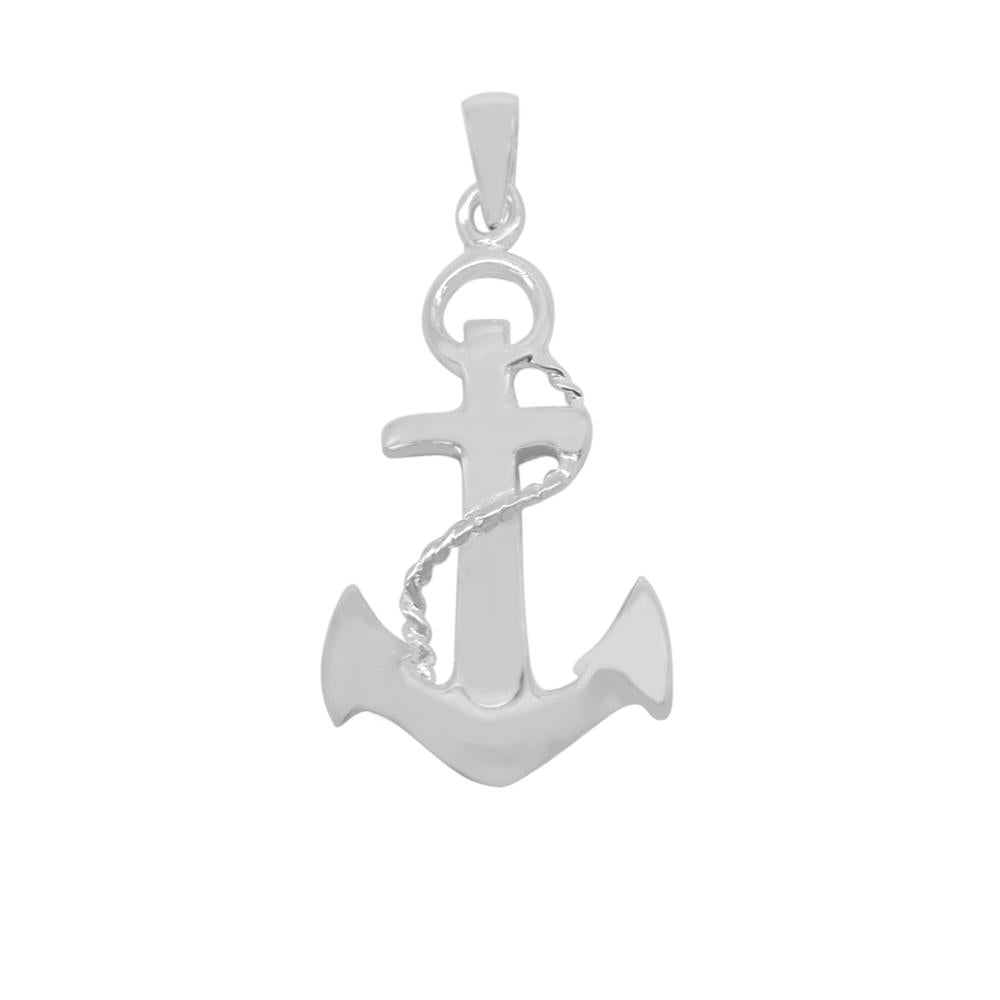Load image into Gallery viewer, Amor Anchor Silver Charm