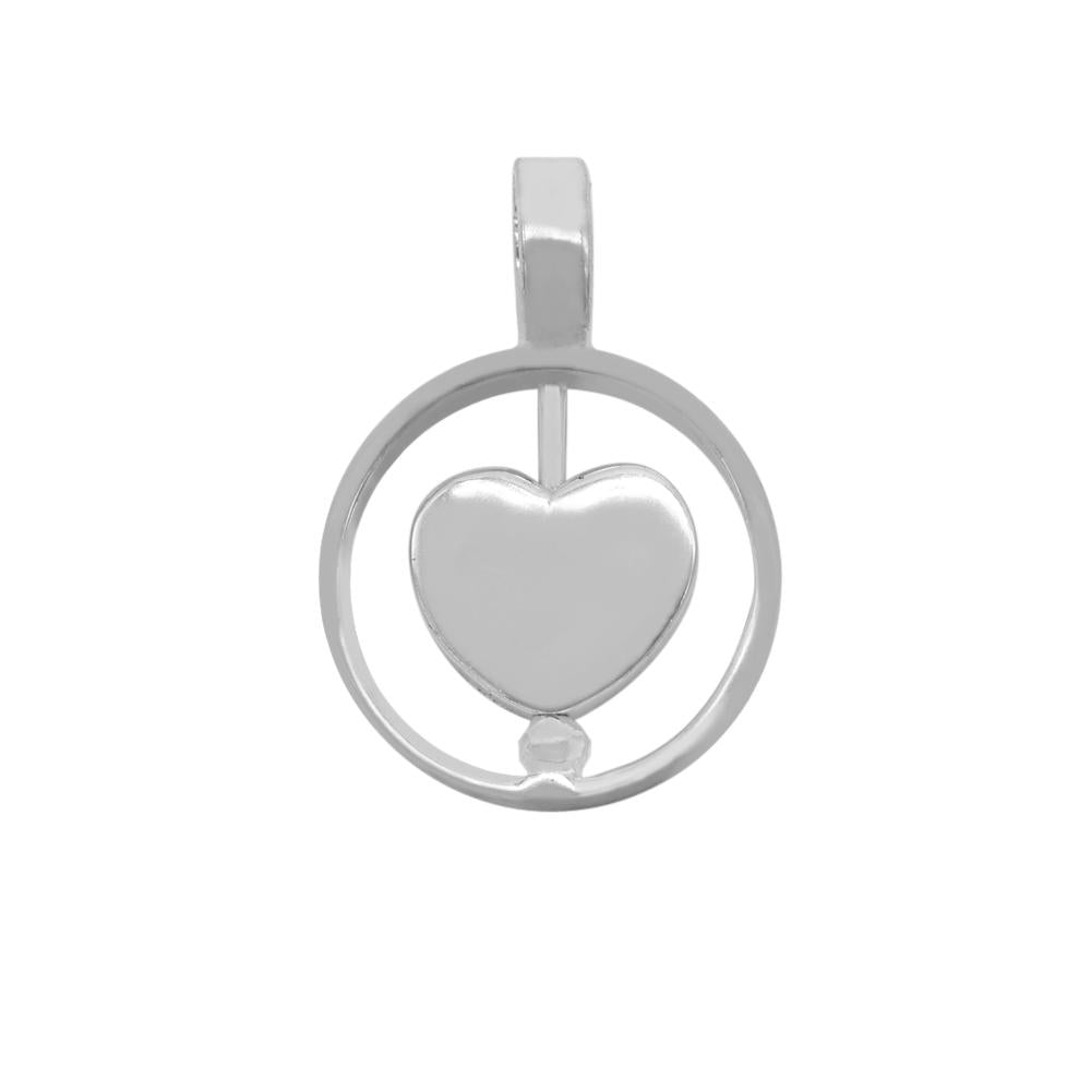 Load image into Gallery viewer, Aaliyah Silver Heart Pendant