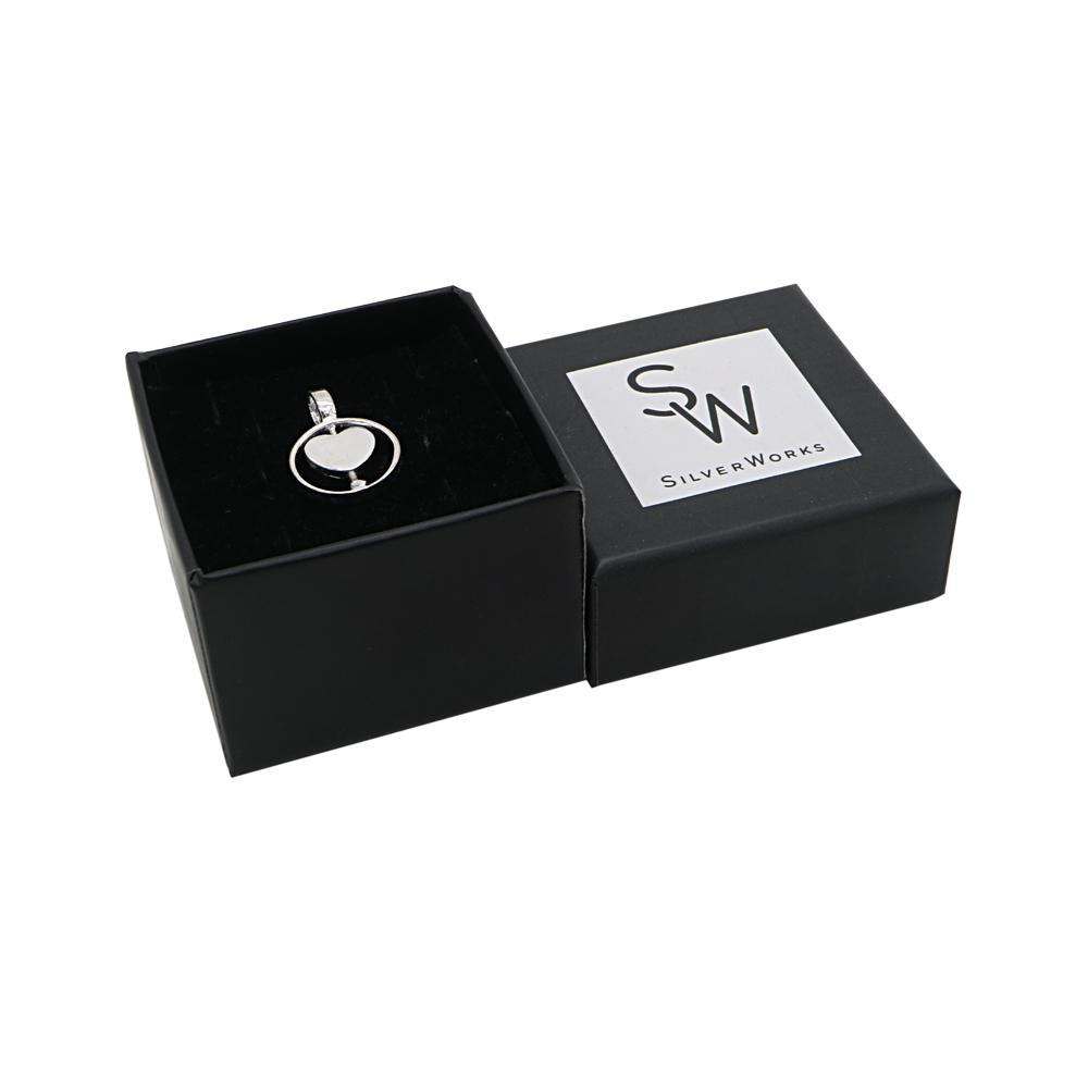 Aaliyah Silver Heart Pendant in a Box Packaging