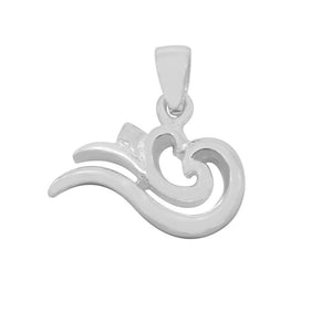 Load image into Gallery viewer, Alex Swirl Heart Silver Charm