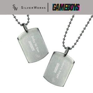 Gameboys Collection Engraved Dogtag Necklace of Cai or Gav Back