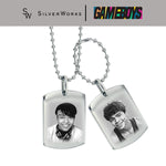 Gameboys Collection Cai and Gav Engraved Double Dogtag Necklace