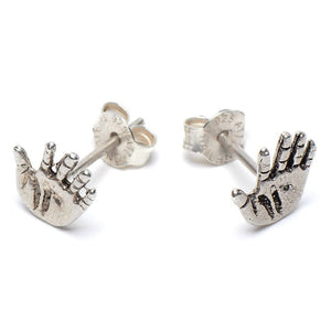 Hand Stud Earrings