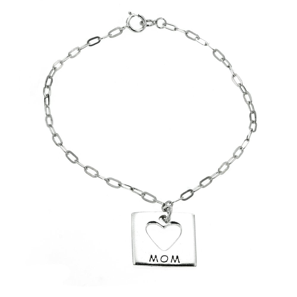 Load image into Gallery viewer, Open Heart Mom Bracelet