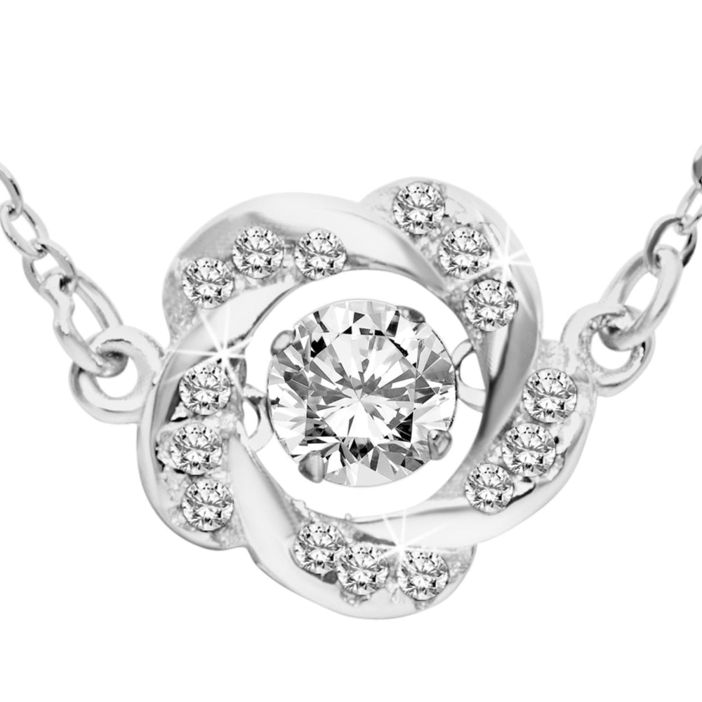 Load image into Gallery viewer, Harrey Dancing Gem Flower Necklace