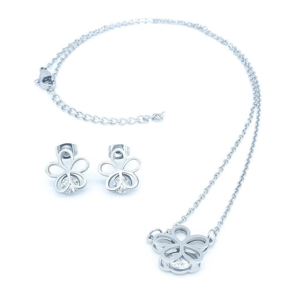 5 Open Petal Flower Set