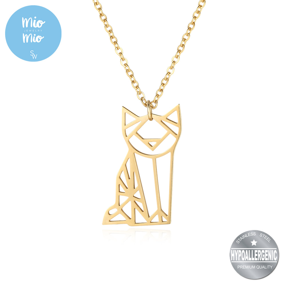 Load image into Gallery viewer, Origami Cat Necklace
