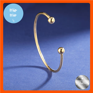 Oval Bangle with Ball on End