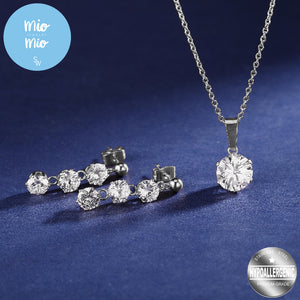 Zircon Drop Earrings and Necklace Set