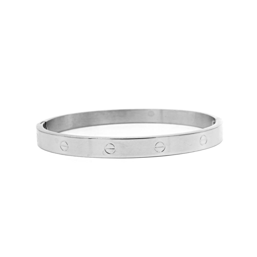 Shiny Bangle with Screw Design