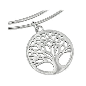 Cross and Tree of Life Charmed Bangle