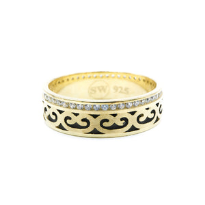 Imani Gold Plated Celtic Design Ring 2