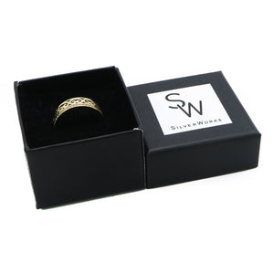 Imani Gold Plated Celtic Design Ring Box Packaging