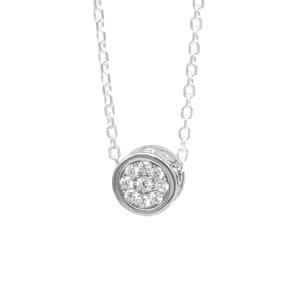 Harper Round Silver Pavé© Necklace