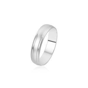 Imani Sandblasted Band Silver Ring
