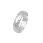 Isha Sandblasted Band Silver Ring with Deep Engraved Design