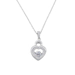 Hani Dancing Gem Padlock Heart Necklace
