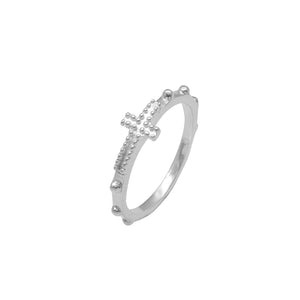 Load image into Gallery viewer, Iola Rosary Silver Ring