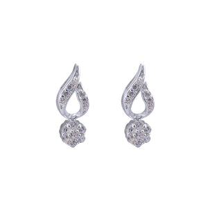 Marvin Rositas in Open Teardrop Silver Earrings