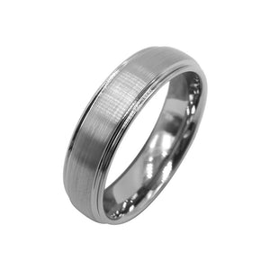 Ipoh Classic Brushed Tungsten Ring