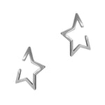 Open Star Cuff Earrings