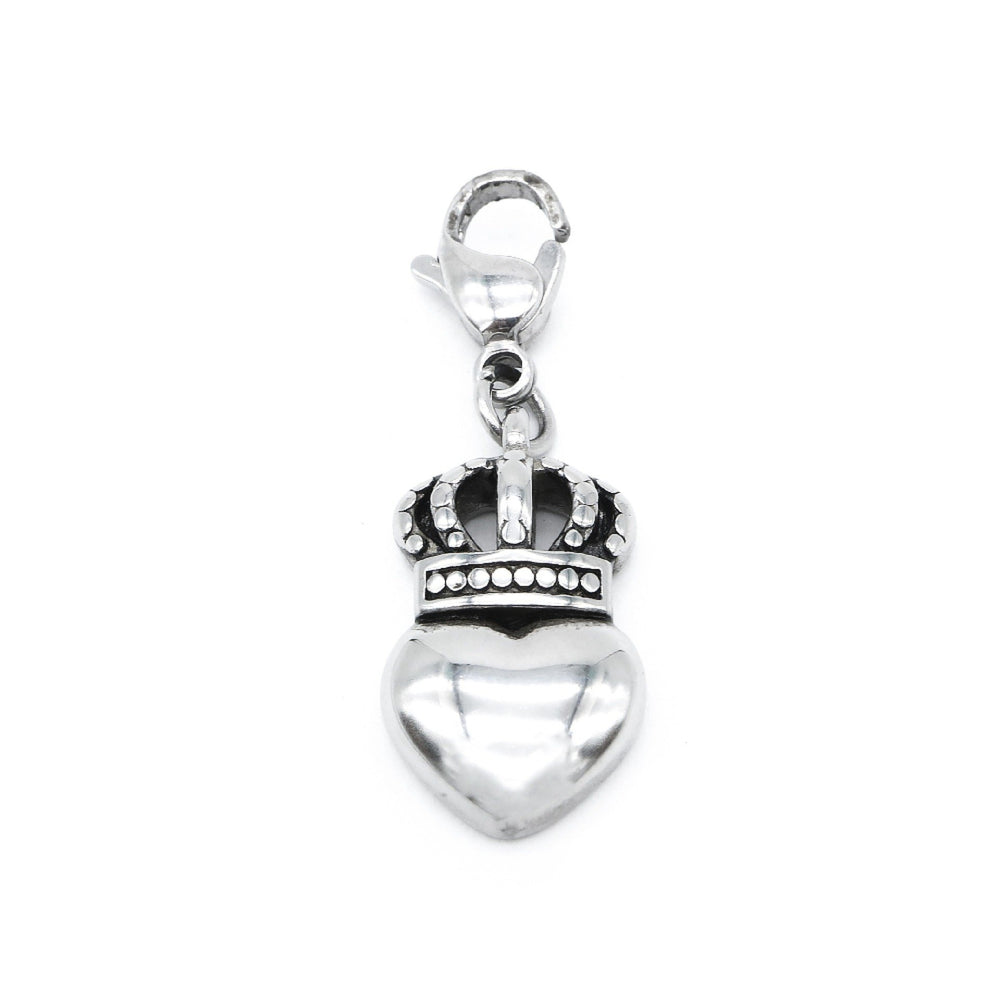 Heart with Crown Charm