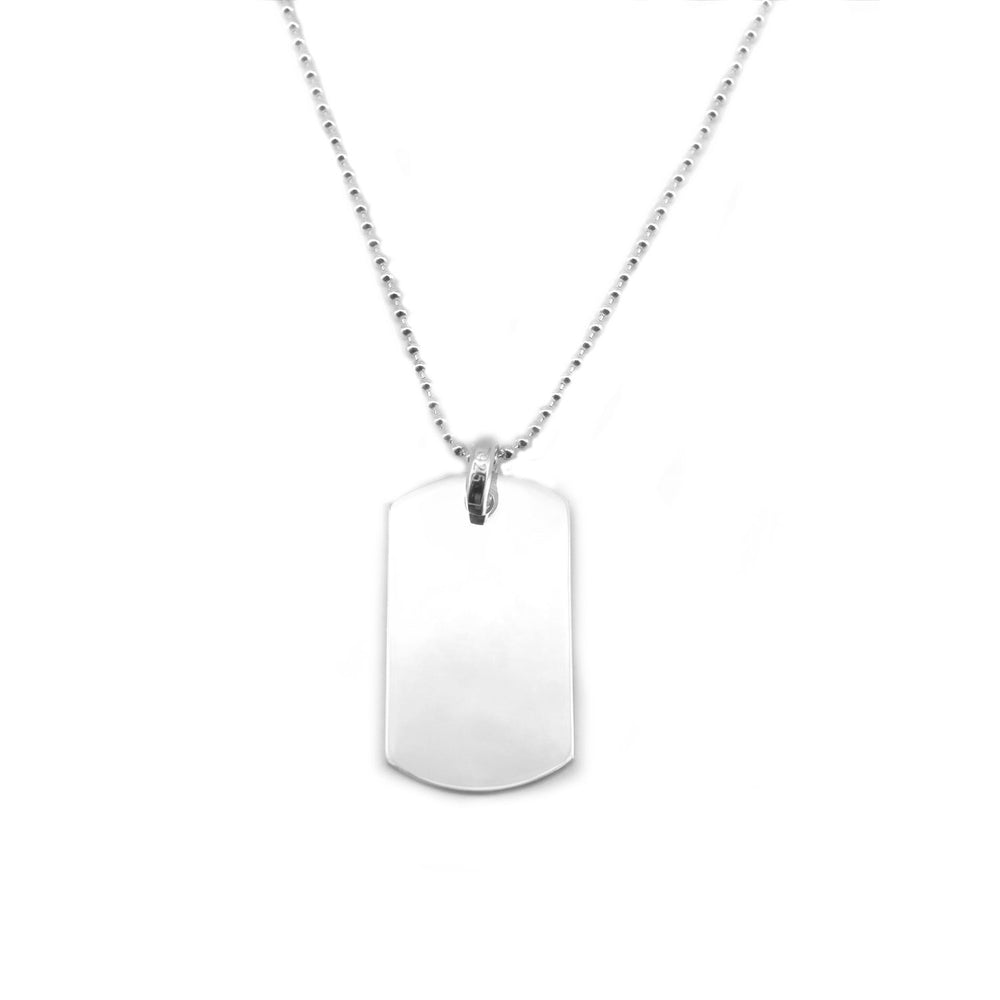 "Load image into Gallery viewer, 21"" Engravable Dogtag Necklace"