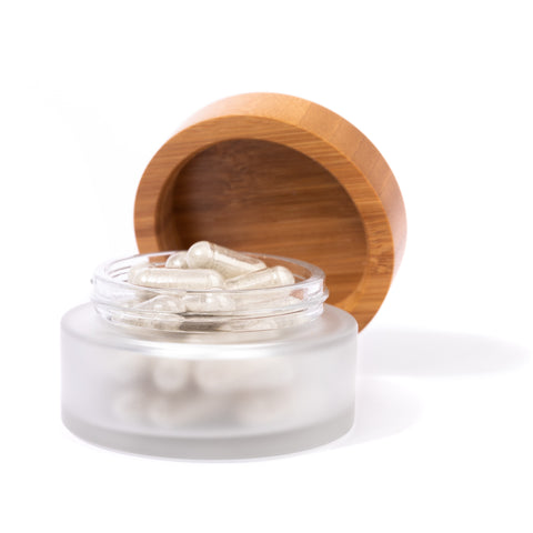 booni doon glass jar and bamboo lid
