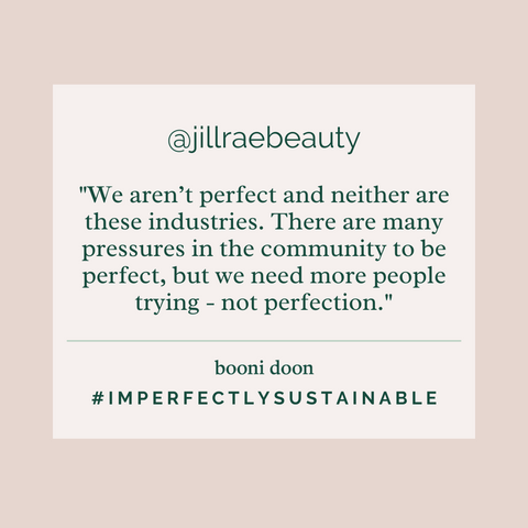 Jillian's #ImperfectlySustainable Interview