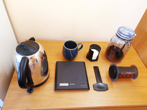Aeropress brewing kit