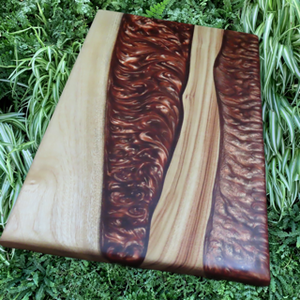 River Platter - Camphor Laurel in Medieval Copper-SOLD