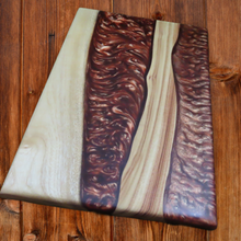Load image into Gallery viewer, River Platter - Camphor Laurel in Medieval Copper-SOLD