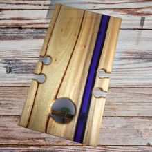 Load image into Gallery viewer, River Table -  Camphor Laurel - Wine/Picnic Table for 4 - Amethyst - SOLD
