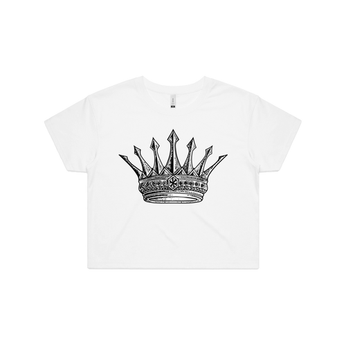 Front design of King of Eve - Womens Crop Tee - Luna Vexa - Imprint Merch - E-commerce