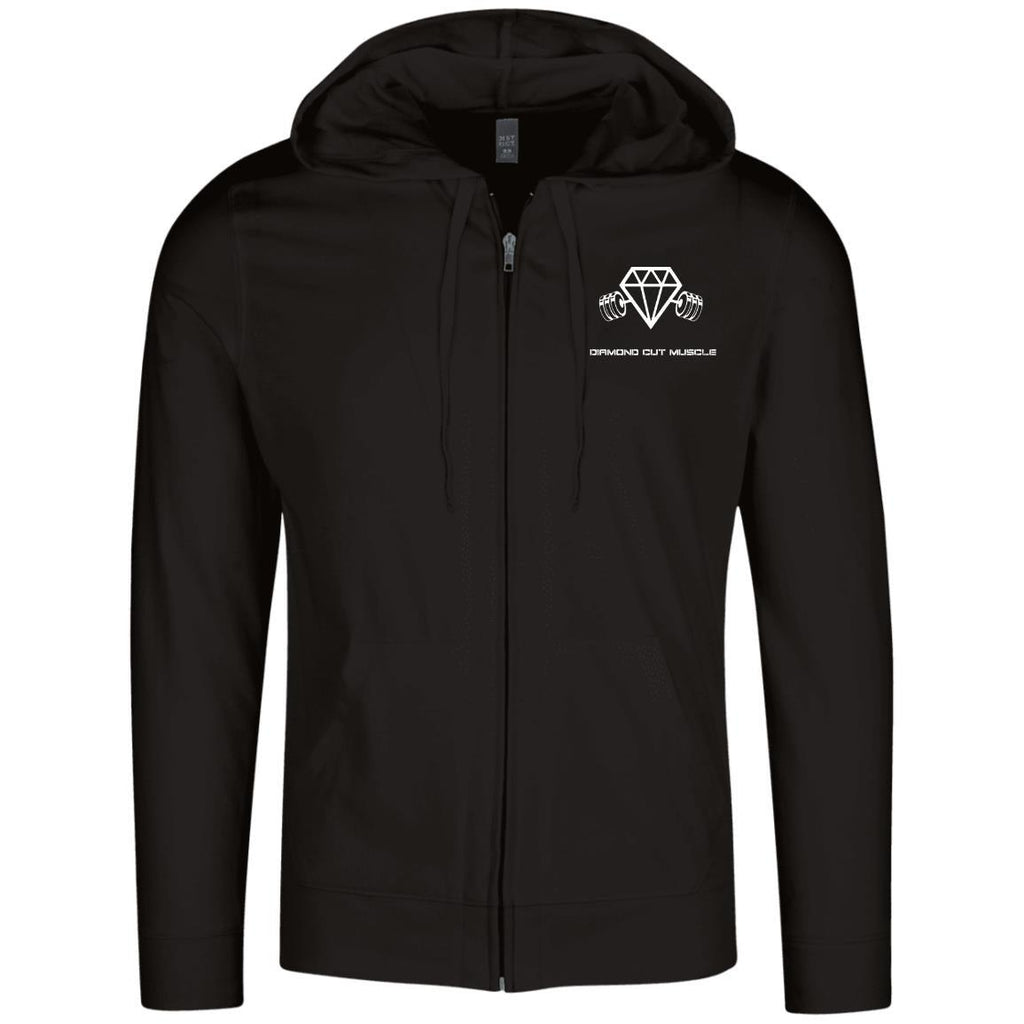 Diamond Cut Muscle Lightweight Full Zip Hoodie - Diamond Cut Muscle Apparel
