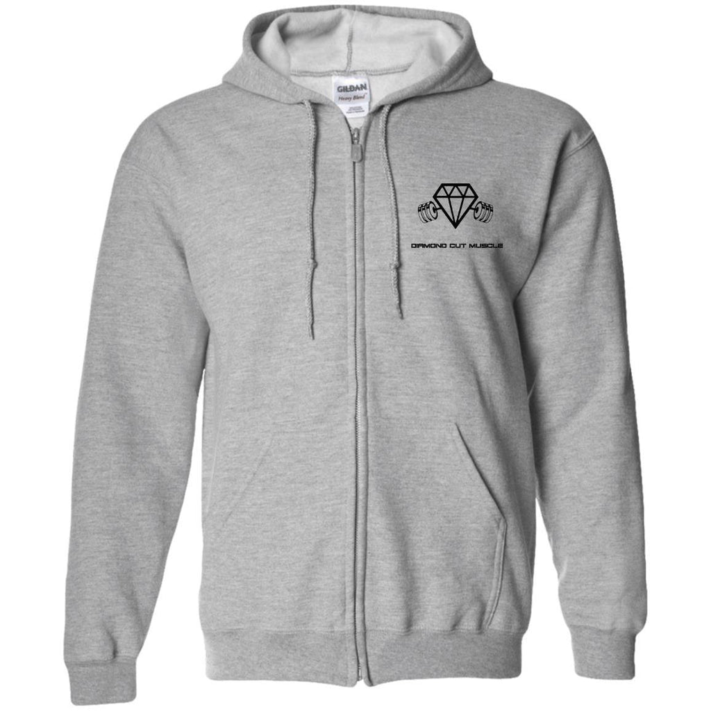 Diamond Cut Muscle Zip Up Hooded Sweatshirt - Diamond Cut Muscle Apparel