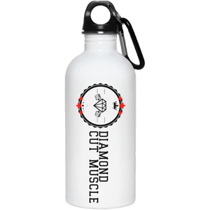 Diamond Cut Muscle 20 oz. Stainless Steel Water Bottle - Diamond Cut Muscle Drinkware