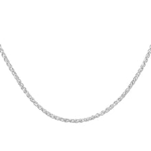 Load image into Gallery viewer, 9ct White Gold Fine Spiga Chain Necklace of 20 Inch/51cm Length