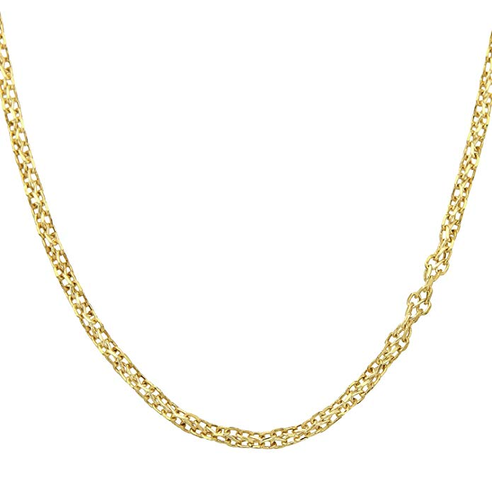 9ct Yellow Gold Fancy Link Chain of 22 Inch/56cm Length