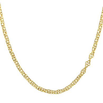 9ct Yellow Gold Fancy Link Chain of 24 Inch/61cm Length