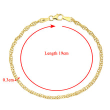 Load image into Gallery viewer, 9ct Yellow Gold Fancy Link Bracelet of 7.5 Inch/19cm Length