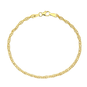 9ct Yellow Gold Fancy Link Bracelet of 7.5 Inch/19cm Length