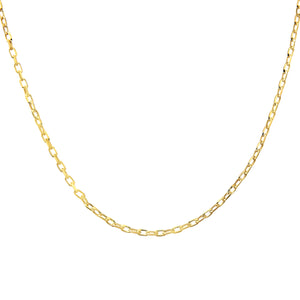 9ct Yellow Gold 2.6g Belcher Necklace of 20 Inch/51cm Length and 0.1cm Width