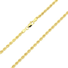 Load image into Gallery viewer, 9ct Yellow Gold Rope Chain Necklace of 18 Inch/46cm Length