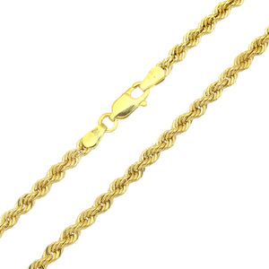 9ct Yellow Gold Rope Bracelet of 7.5 Inch/19cm Length